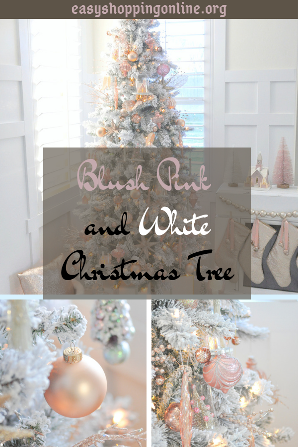 Blush Pink Decorated Christmas Tree Valoblogi Com