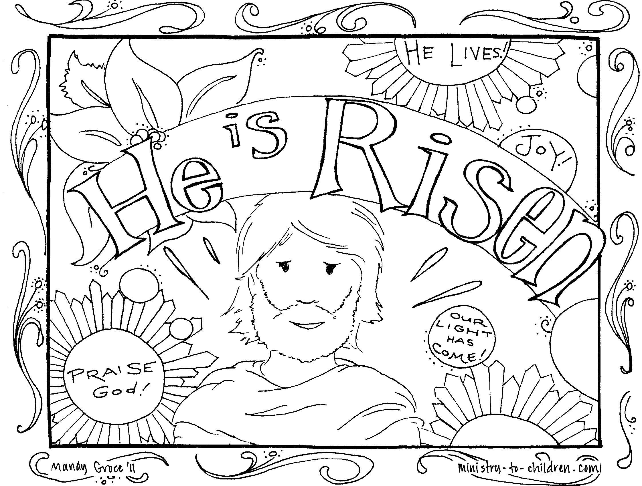 He Is Risen Coloring Pages Free Easter Coloring Pages Easter