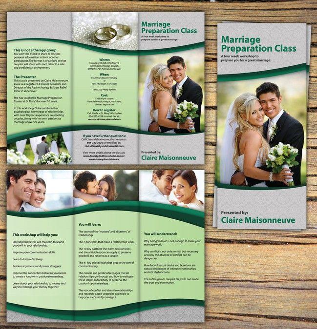 freelance Brochure design for a Marriage Preparation Class by - expert reception maison neuve