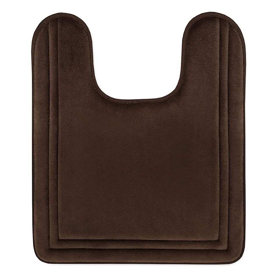Smart Dry 21 X 24 Memory Foam Contour Bath Mat In Chocolate