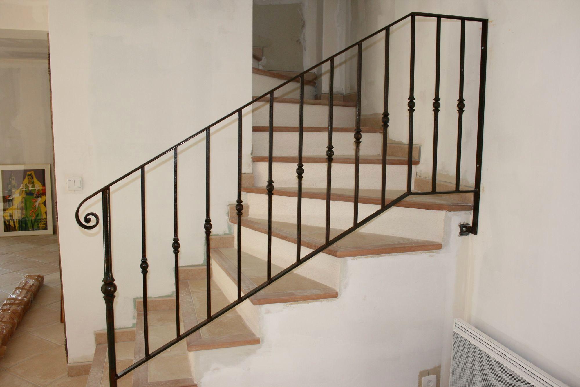 Rampe D Escalier Murale Bois changer rambarde escalier bois Élégant rampe escalier fer
