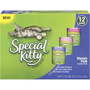 Special Kitty Premium Classic Pate Variety Pack Cat Food 12ct Wet Cat Food Variety Pack Cat Food