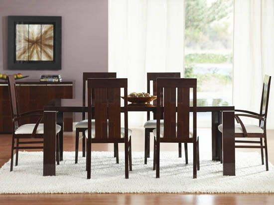 The Pisa Dining Table Is Expertly Crafted In A Unique Walnut Cetto Veneer With Zebra Wood Inlays And Protective High