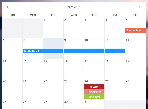 Responsive Event Calendar & Date Picker jQuery Plugin