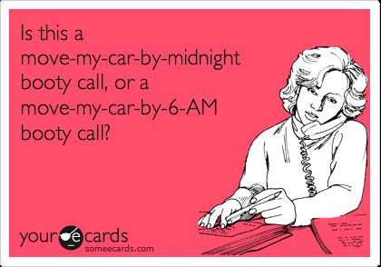 My booty call