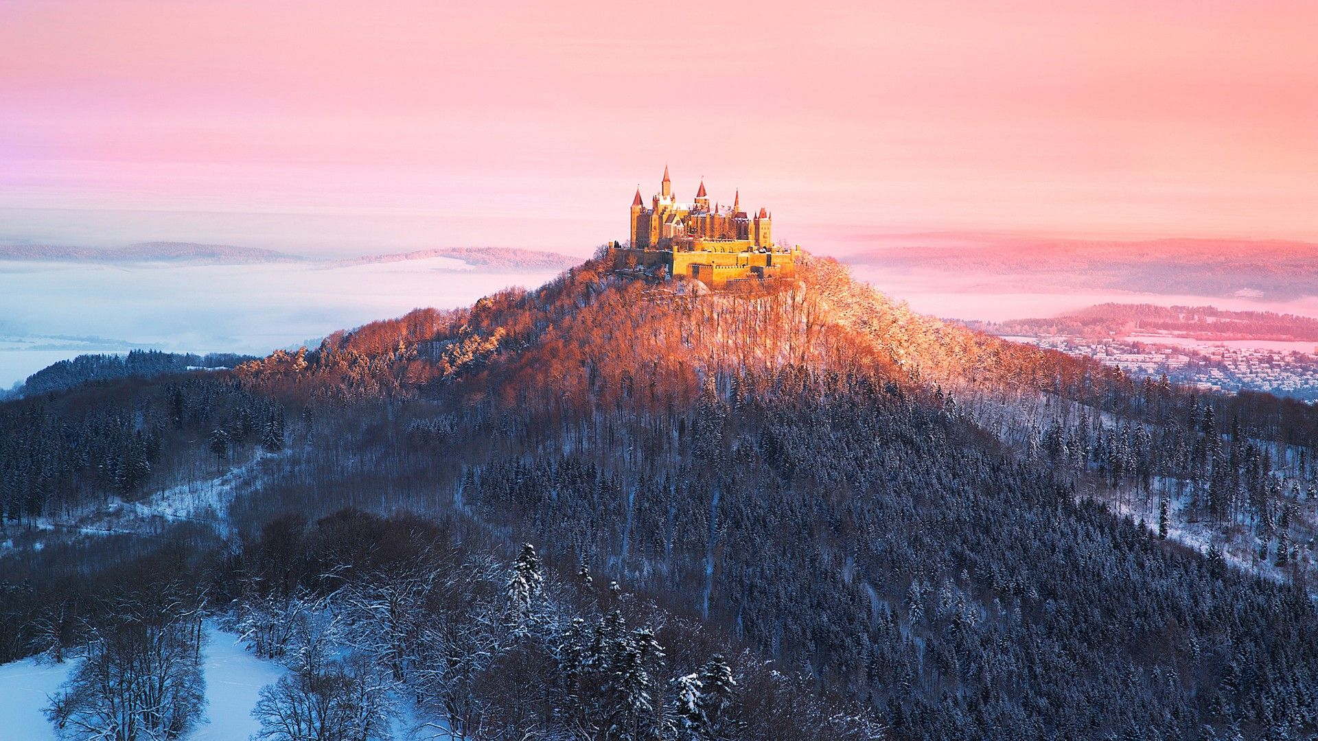 Download Hd Wallpapers Of 371681 Nature Forest Mountains Burg Hohenzollern Hohenzollern Baden Wurttemberg Germ Hohenzollern Castle Castle Germany Castles