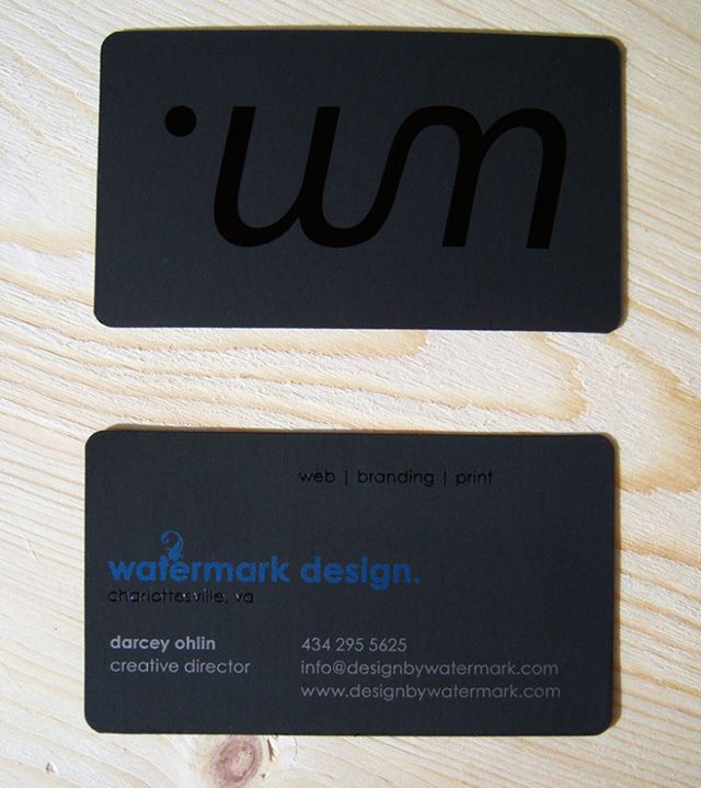 Watermark design business cards samples printed on black velvet watermark design business cards samples printed on black velvet paper metallic silver and blue reheart Image collections