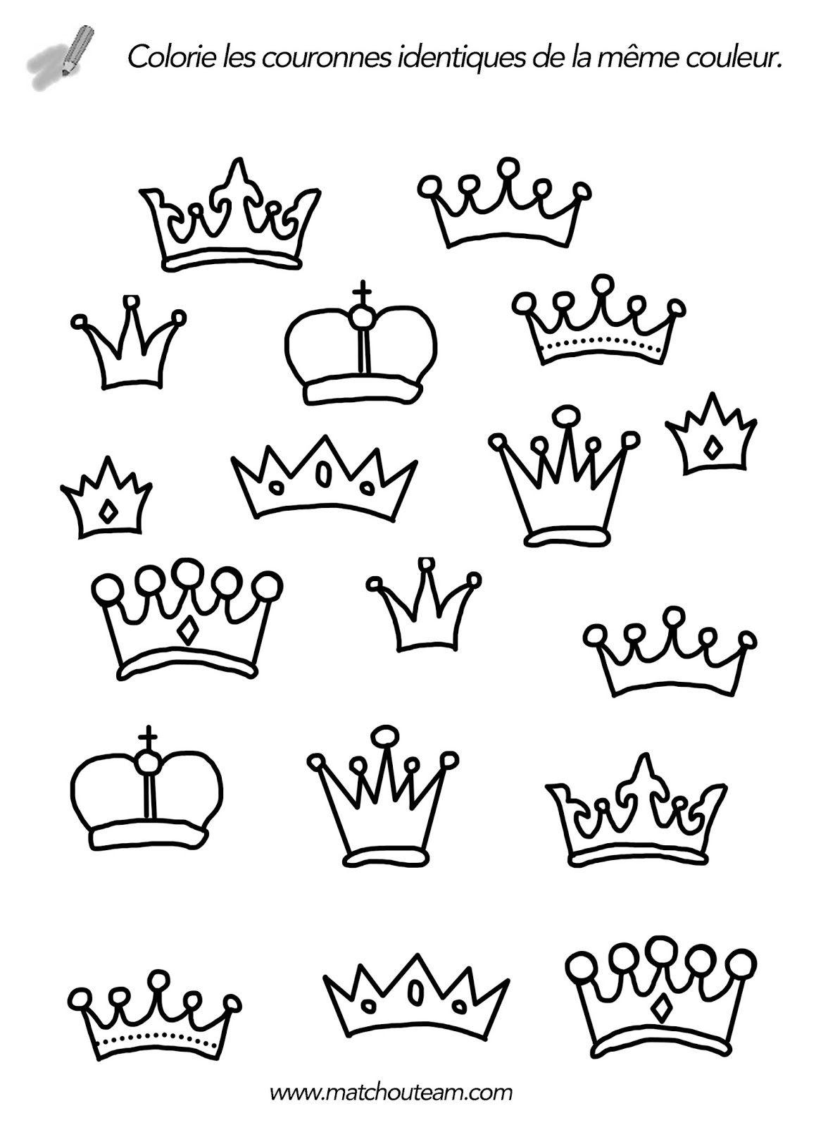 Activit s autours de la galette des rois ecole divers - Dessin couronne princesse ...
