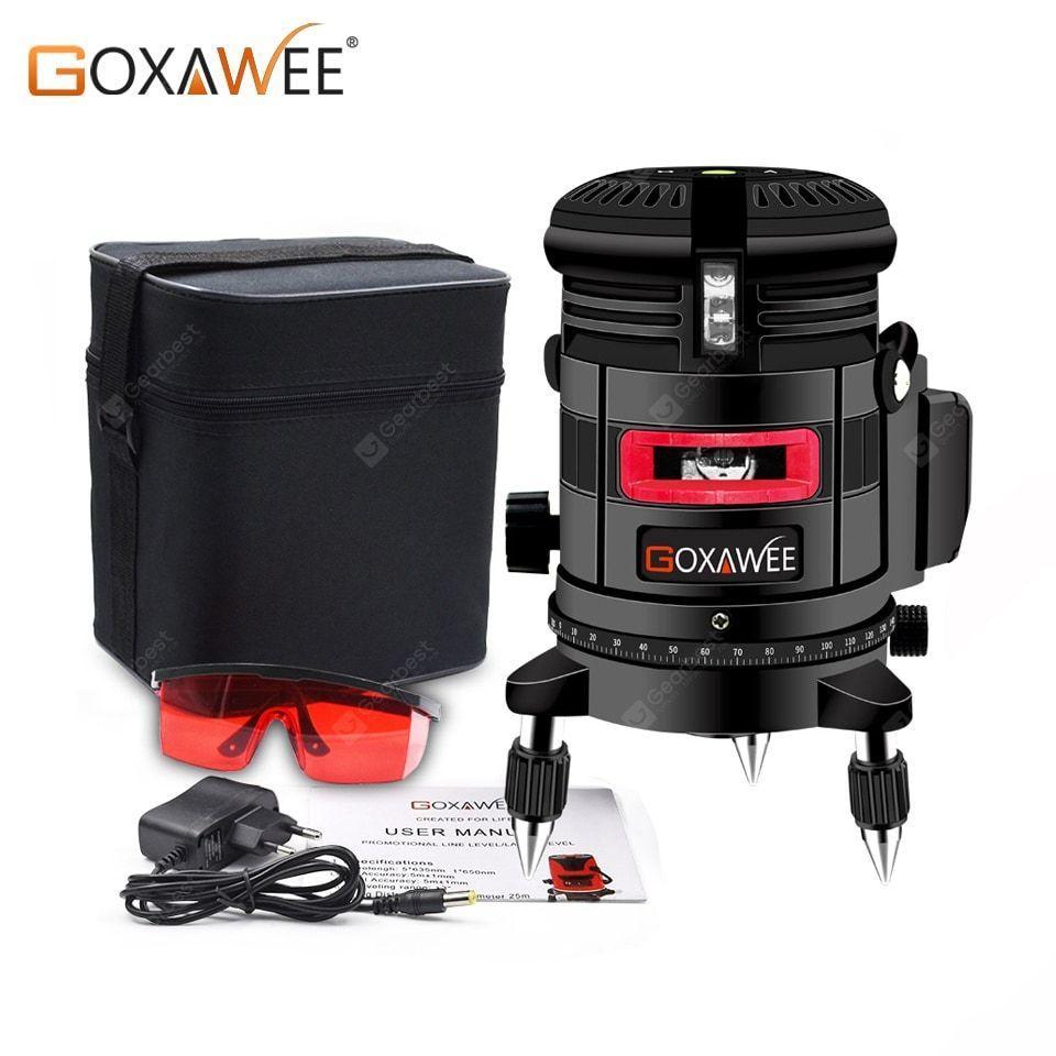 Goxawee Laser Level 360 Degree 3d Red Beam Cross Line Laser Level Measuring Instruments Tripod Sale Price Reviews Red Beam Measuring Instrument Laser Levels
