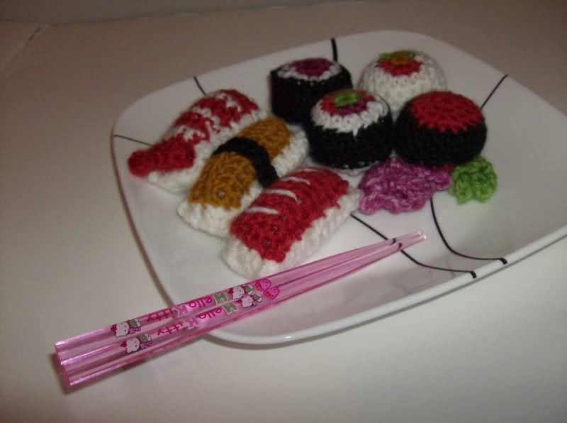 gehäkeltes Sushi, super für einen Kinderkaufladen | Kaufladen ...