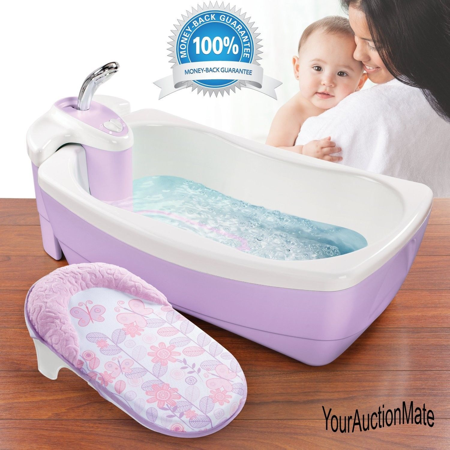Lil\' Luxuries Whirlpool Bubbling Bath Spa Shower Tub Summer Infant ...