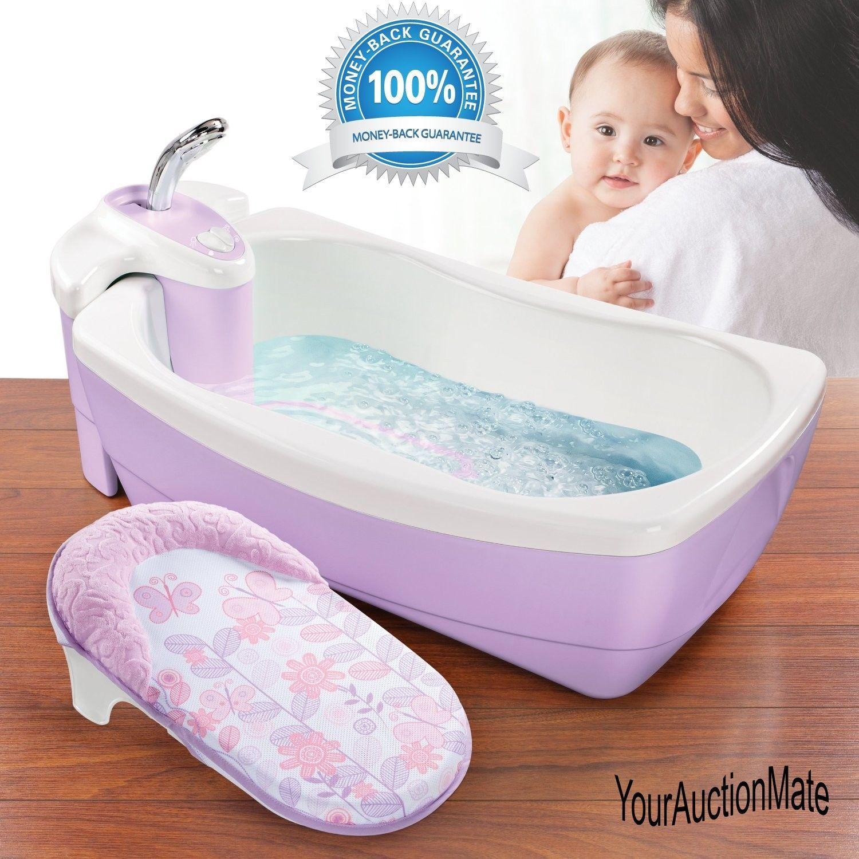 Baby Bubble Bath Tub Infant Fun Spa Kids Water Time Jet Spray