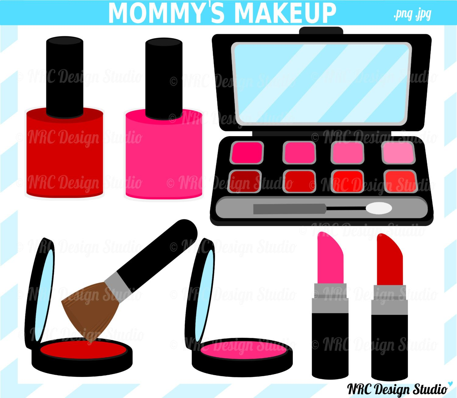 Putting On Makeup Clip Art | Gallery For > Putting On Makeup Clip ...