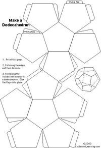 FREE Dodecahedron Printable~ Print out this model from