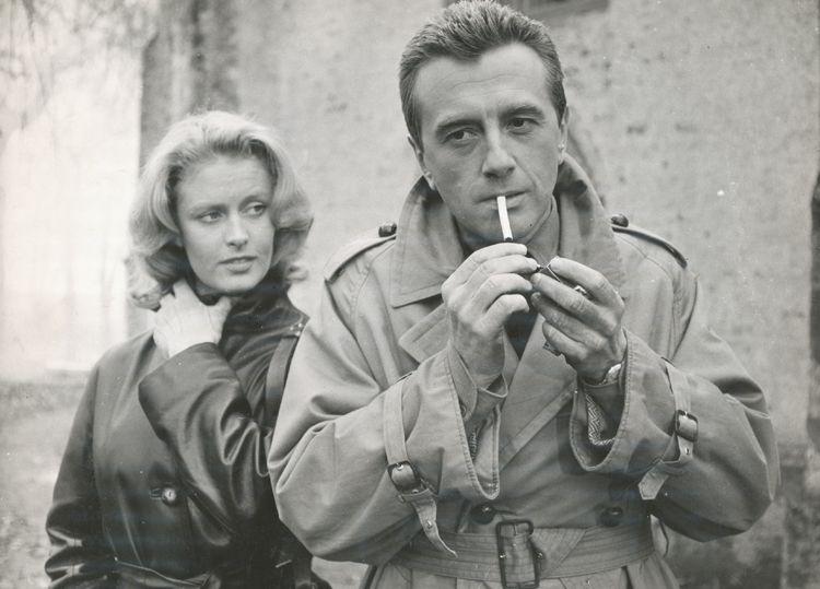 Andrzej Łapicki con Beata Tyszkiewicz