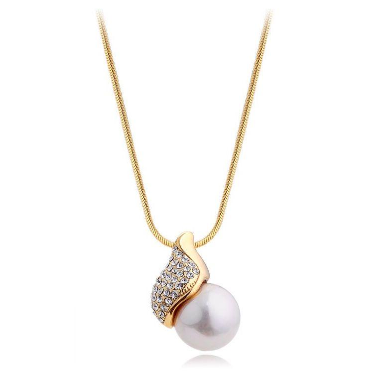 Swarovski crystal jewelry swarovski crystal white pearl pendant swarovski crystal jewelry swarovski crystal white pearl pendant necklace gold chain aloadofball Choice Image