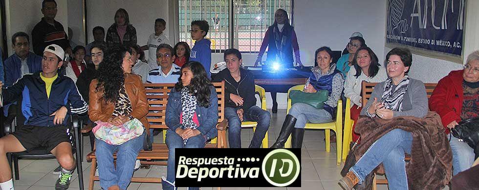 JAVIER ORDAZ Y SU CHARLA A LOS TENISTAS MEXIQUENSES