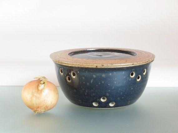 Garlic keeper onion storage garlic jar with lid by toscAnna
