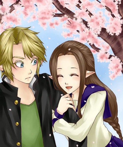 Link and Zelda in high school | What in Hyrule? | Pinterest ...