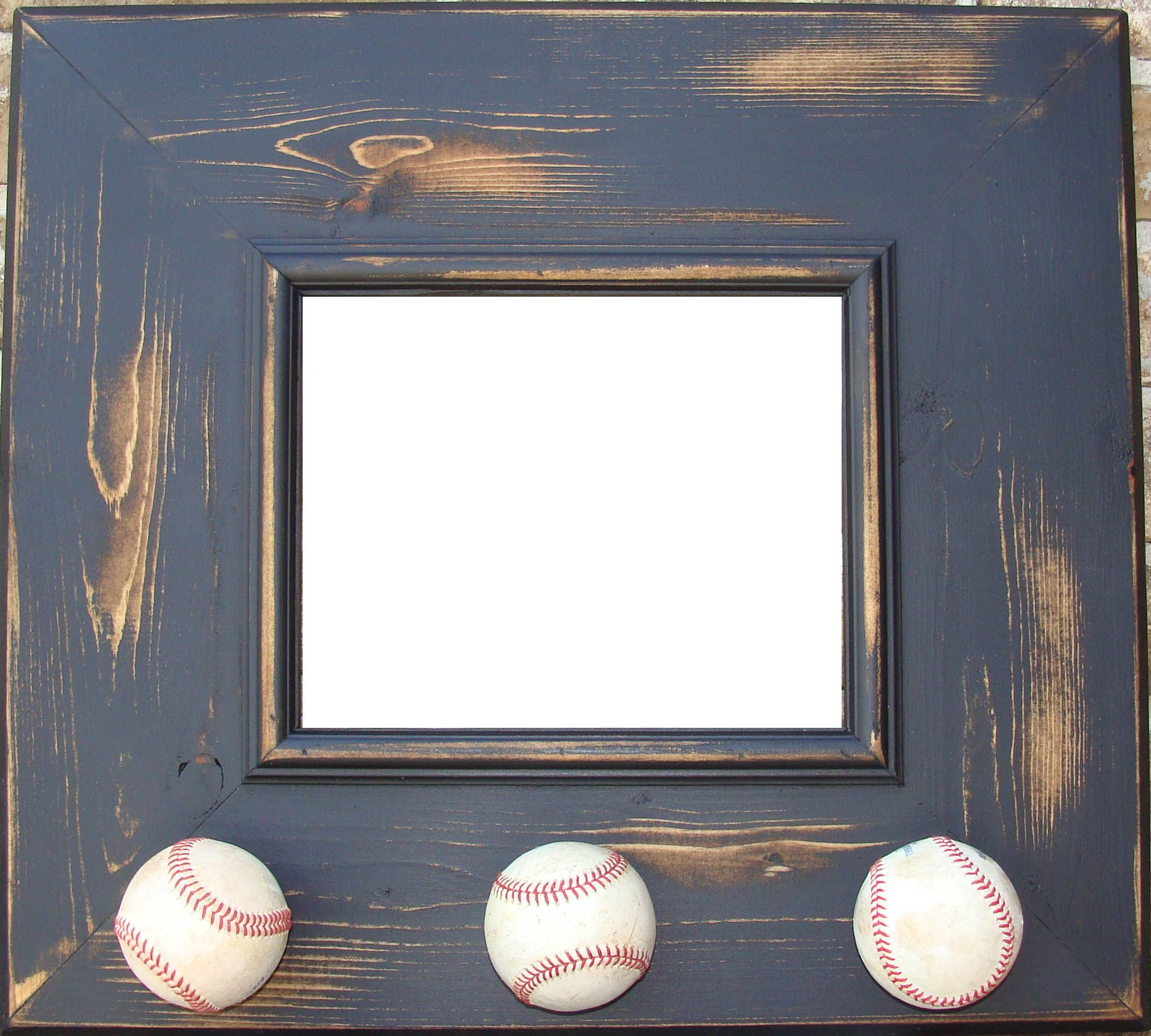 Handpainted Distressed 8x10 Baseball Wall Frame With Images Frames On Wall