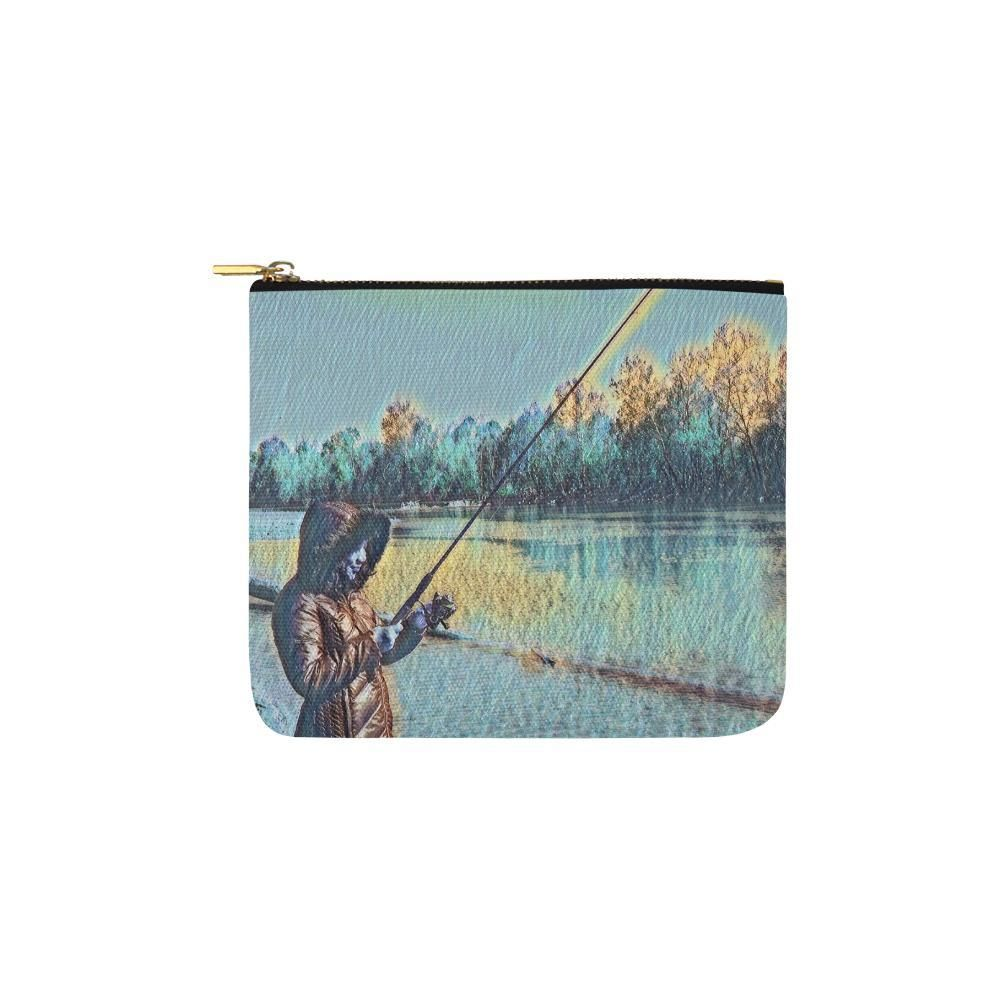 Levi Thang Fishing Design 16 Carry-All Pouch 6''x5''