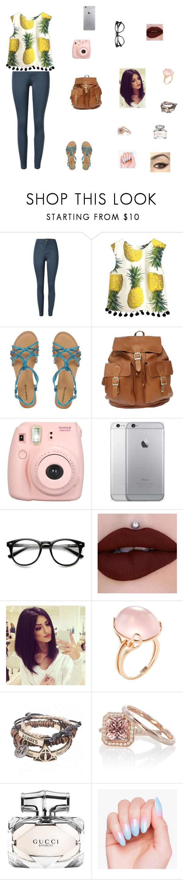 """""""Untitled"""" by sass-queen-159 ❤ liked on Polyvore featuring Red Herring, Fujifilm, Goshwara and Gucci"""
