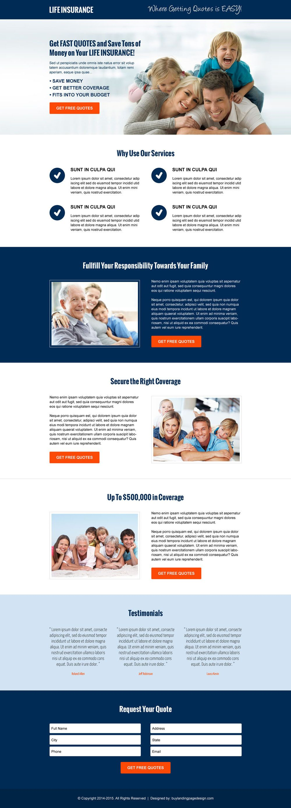 Life Insurance Free Quote Money Saving Life Insurance Free Quote Cta And Lead Capture