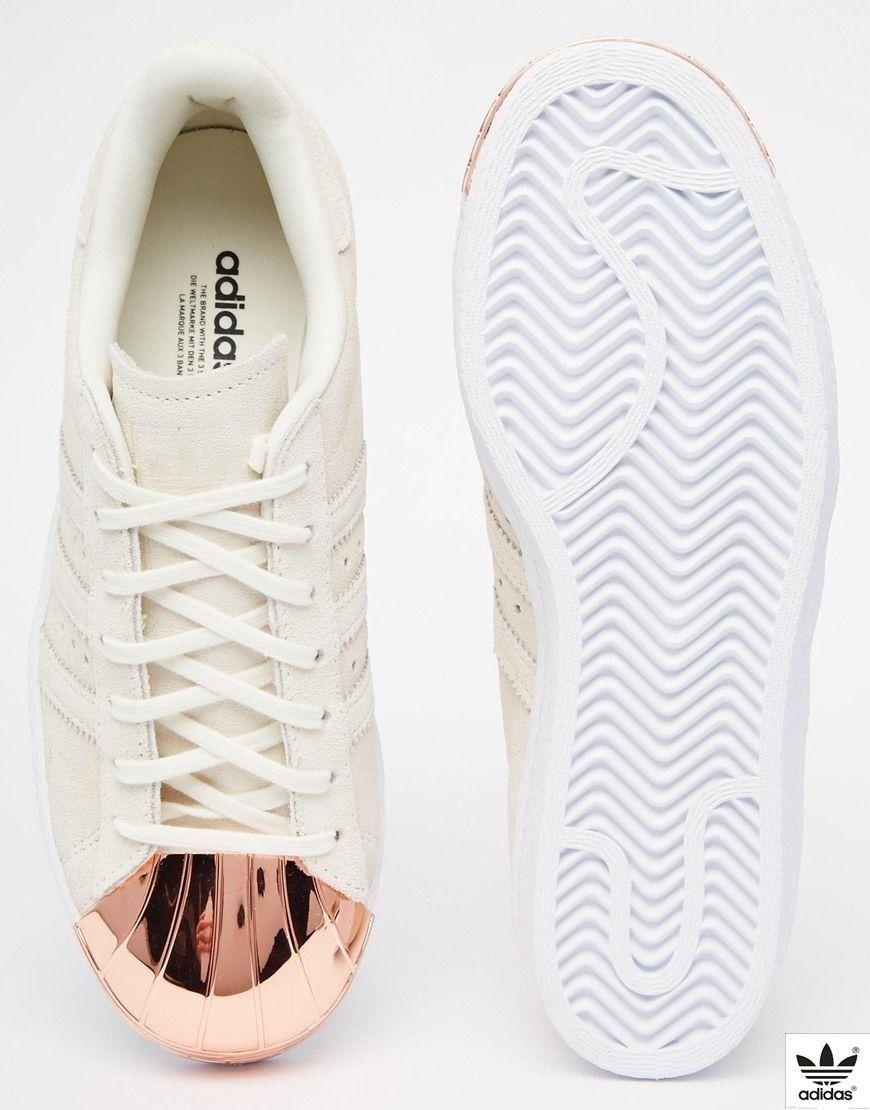 e66987c2cd903 adidas Superstar 80s Rose Gold Metal Toe Cap asos