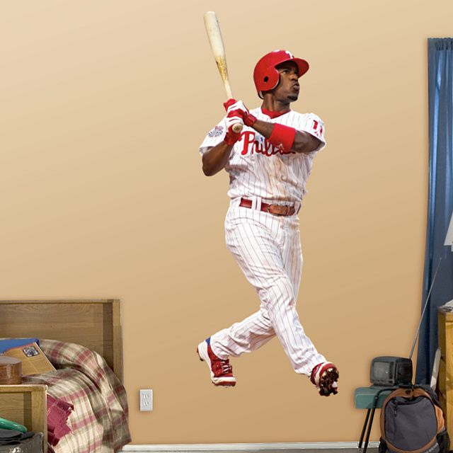 Jimmy Rollins REAL.BIG. Fathead Wall Graphic | Philadelphia Phillies ...