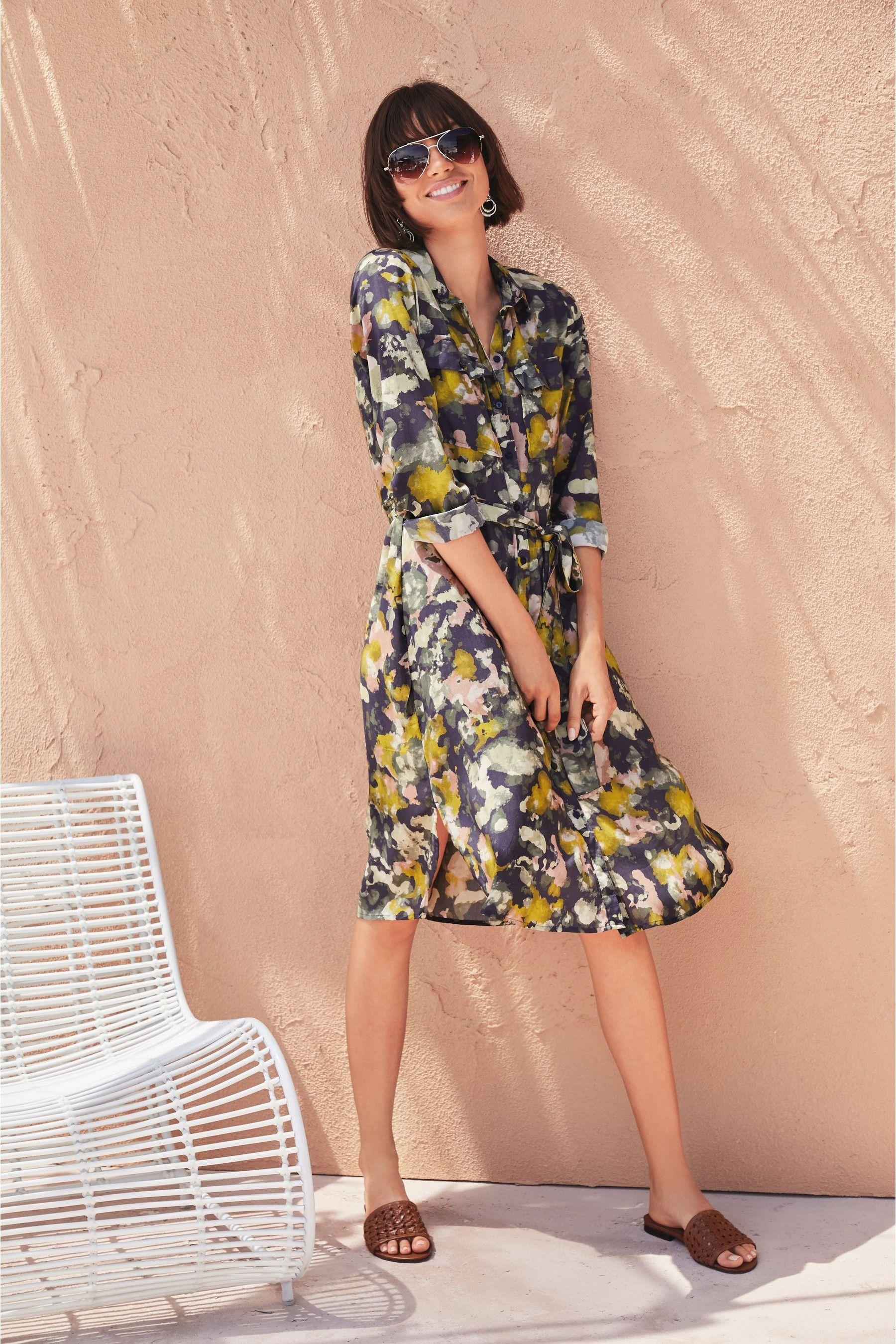 Ochre Camo Shirt Dress | Shirt dress, Dresses, Online dress
