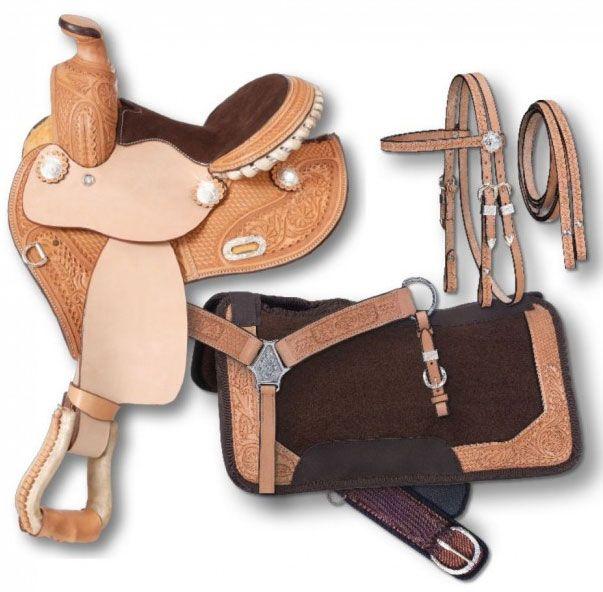 Silver Royal Premium Miniature Barrel Saddle Package