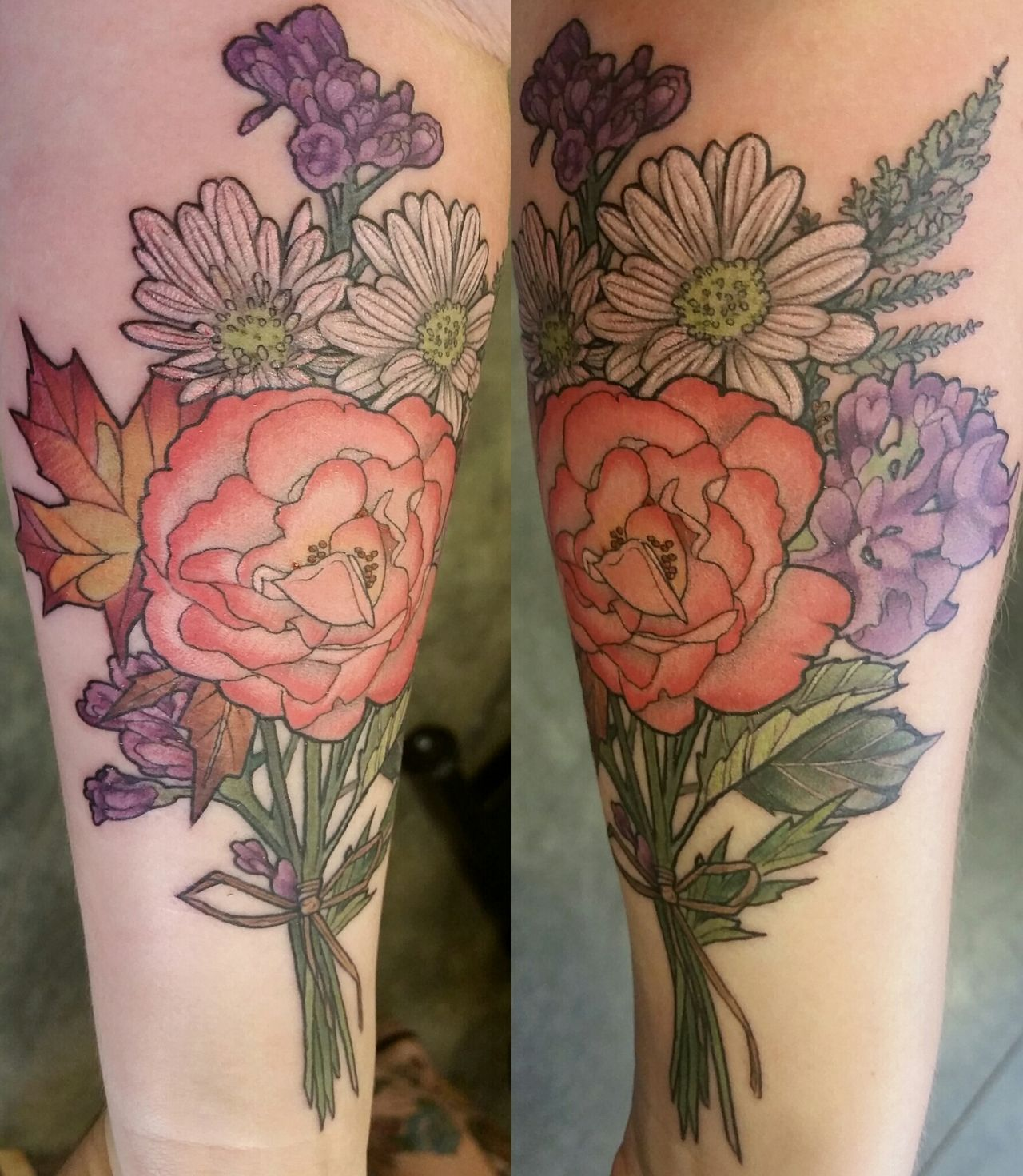 Bouquet Tattoo Tattoos: Floral Bouquet By Alice Kendall, At Her Shop Wonderland