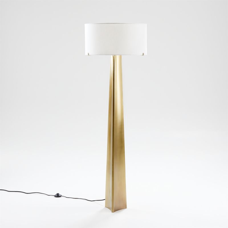 Isla Brass Triangle Floor Lamp Crate and Barrel in 2020