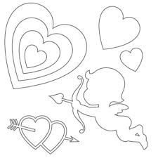 Pin The Heart On Cupid Template Google Search Free Stencils Printables Free Stencils Printables Templates Valentine Template