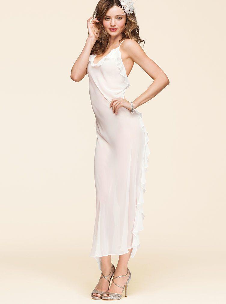 Victoria\'s Secret - Chiffon Ruffle Gown - Dream Angels. | #Sleepwear ...