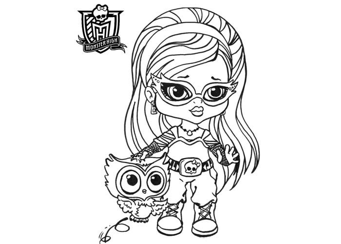 Baby monster high coloring pages baby ghoulia yelps coloring pages