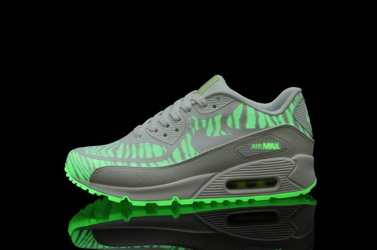 cpY68 Nike Air Max UK Shoes 90 Premium Tape Women's Glow In