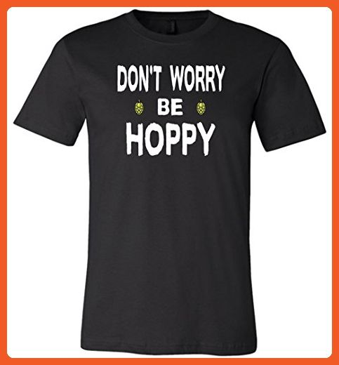 Don't Worry be Hoppy Beer Black Unisex T-Shirt - Food and drink shirts (*Partner-Link)