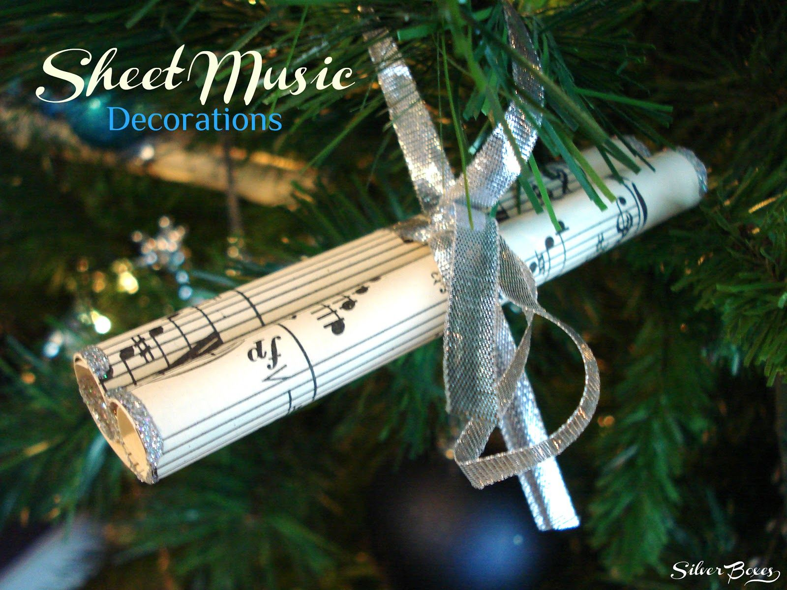 Christmas music ornaments - Sheet Music Decorations For My Fellow Musician Friends