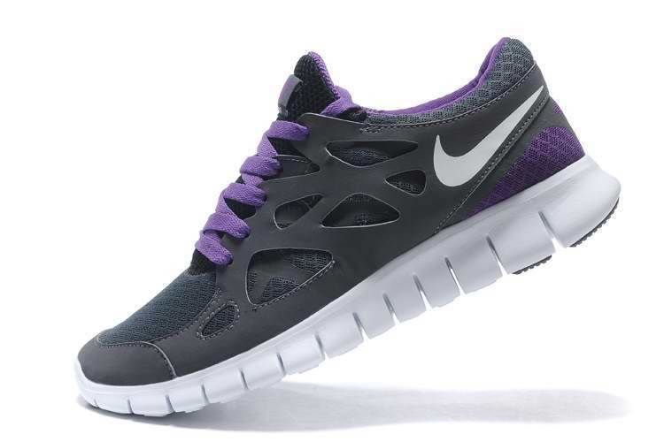 womens nike purple free run v2 ext trainers hate