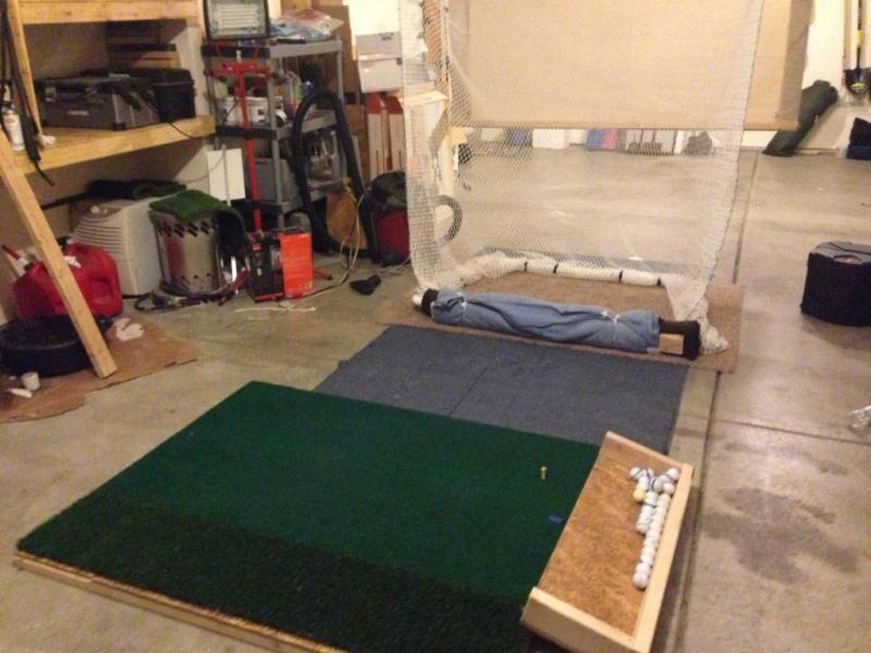 DIY Indoor Golf driving range