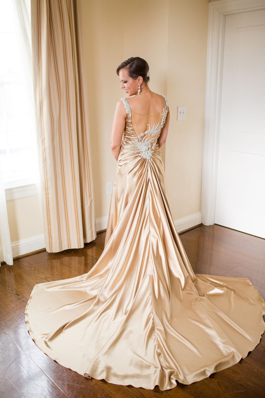 Spectacular Beautiful untraditional gold wedding dress Photo by Katelyn James Photography