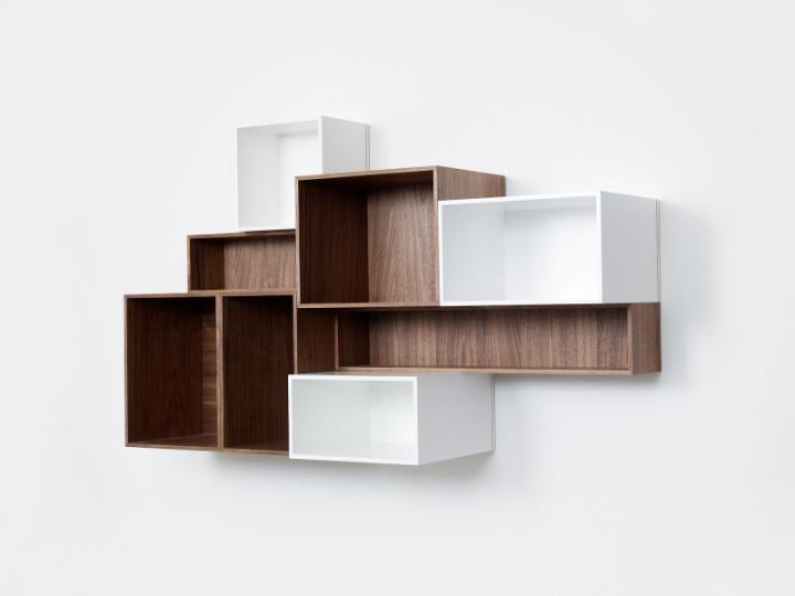 etagères suspendue modulable pour cd et dvd | meuble design ... - Meuble Cd Design