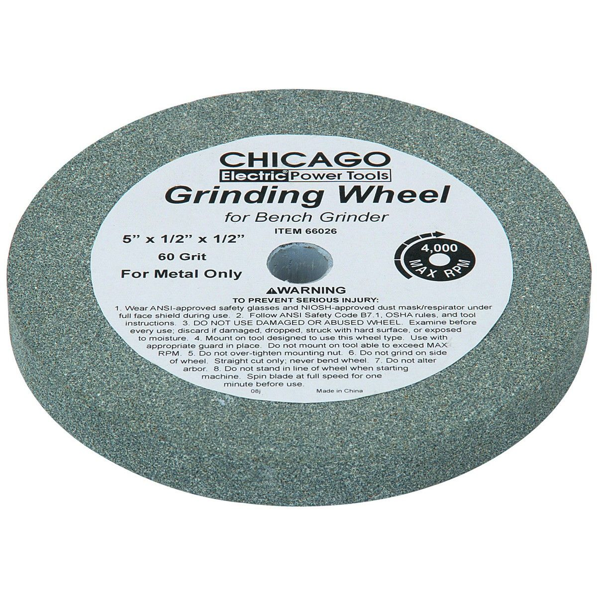 5 In 60 Grit Grinding Wheel In 2020 Grind Grit Used Wheels