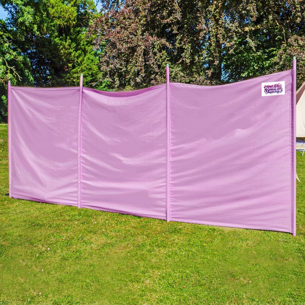 Boutique Camping Windbreaker Pastal Lilac Boutique Camping Bell Tent Camping Uk