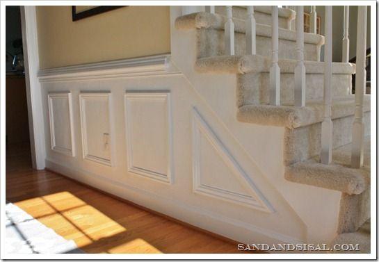 Installing Wainscoting | Wall molding, Moldings and Basements