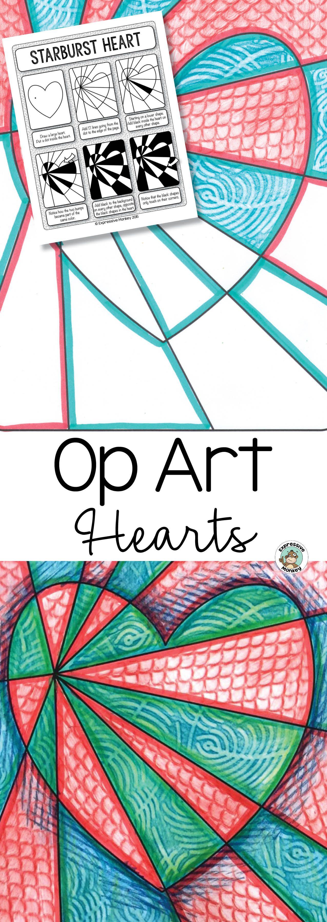 Valentine Op Art Worksheet