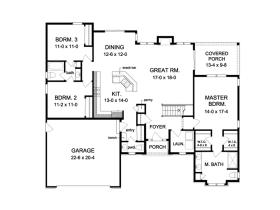 Ranch Style House Plan 3 Beds 2 5 Baths 1796 Sq Ft Plan 1010 101 Basement House Plans Floor Plans Ranch Rambler House Plans