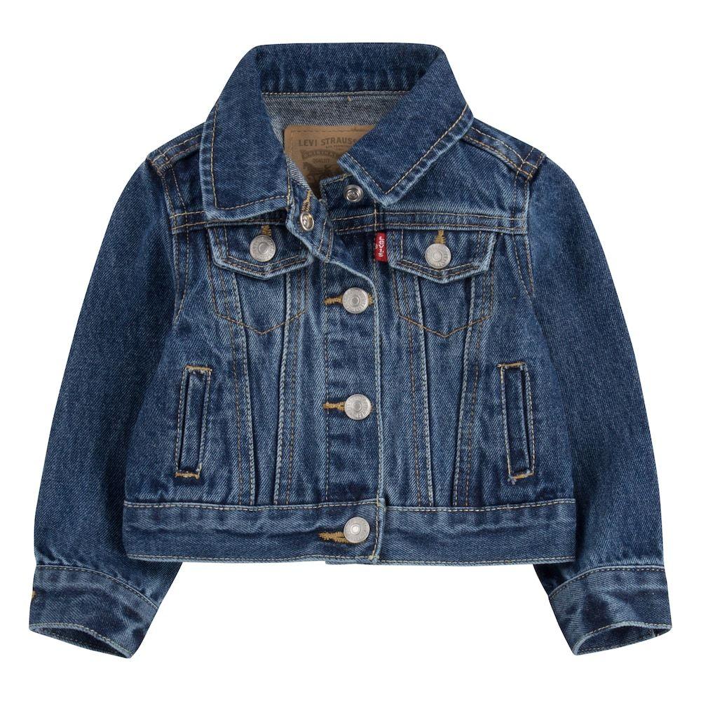 Baby Girl Levi S Denim Trucker Jacket Jean Jacket For Girls Trucker Jacket Girls Denim [ 1000 x 1000 Pixel ]