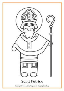 St Patrick colouring page MANY